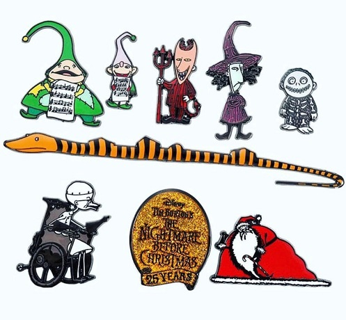 The Nightmare Before Christmas Boxset Pins - Middle