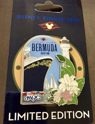 Bermuda 2018 Disney Cruise Line Pin