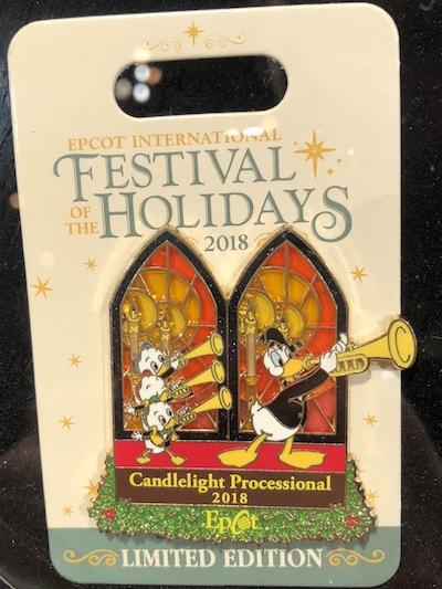 Candlelight Processional 2018 Epcot Disney Pin