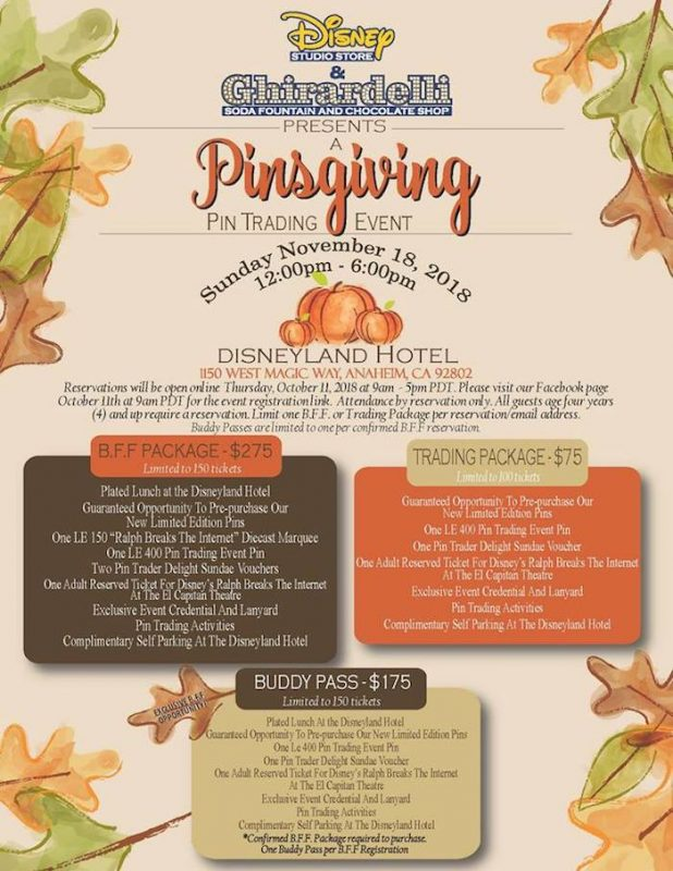 DSSH Pinsgiving Pin Trading Event 2018