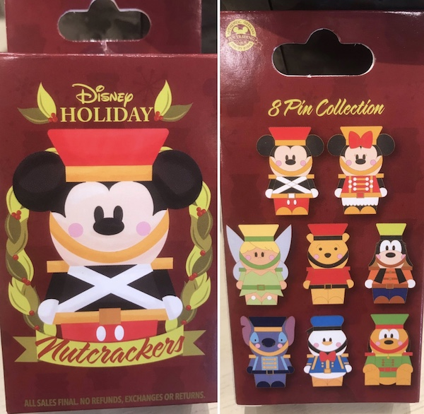 Disney Holiday Nutcrackers Mystery Pin Collection