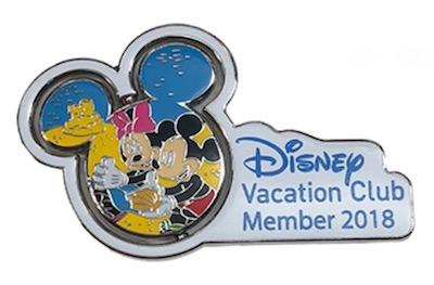 Disney Vacation Club 2018 Mickey & Minnie Pin