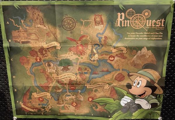 Disney's Animal Kingdom PinQuest Map
