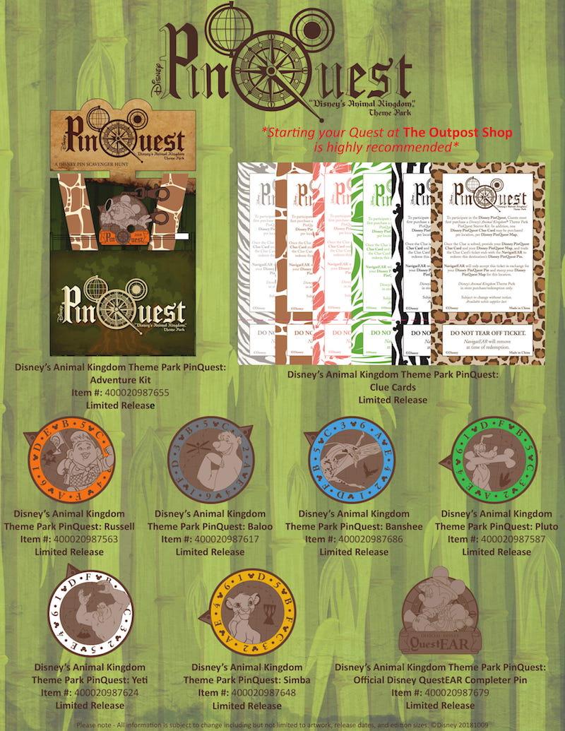 Disney's Animal Kingdom PinQuest