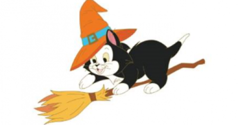 Halloween Figaro Pin