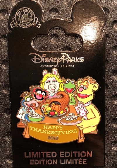 Happy Thanksgiving 2018 Disney Pin