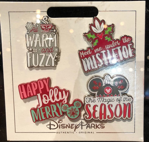 Holiday 2018 Disney Parks Pin Set