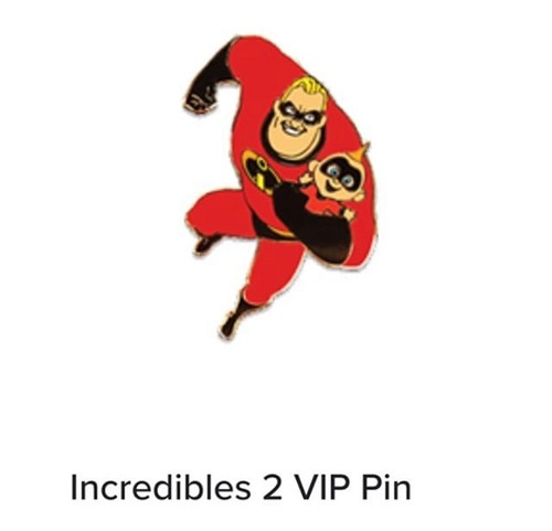Incredibles 2 Disney Movie Club Pin
