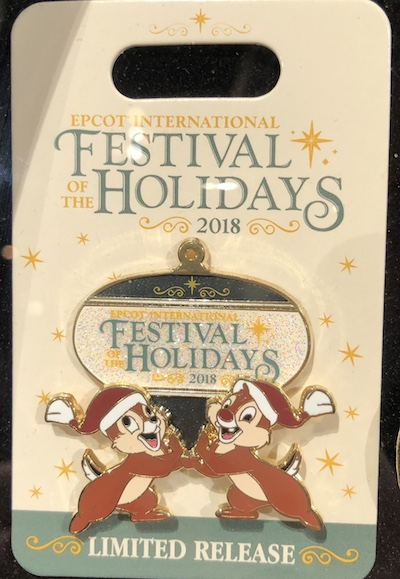Logo Pin - Epcot Festival of the Holidays 2018