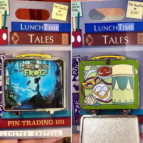Lunch Time Tales 2018 Princess and the Frog Pin