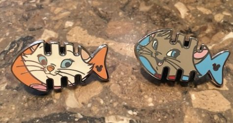 Marie and Berlioz Fish Game Pins