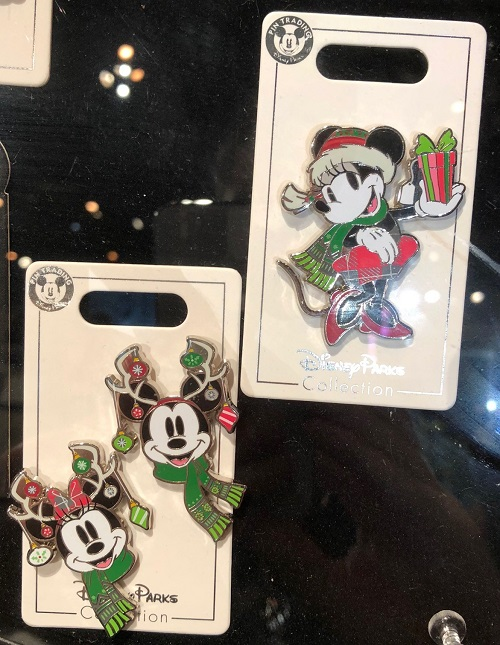 Mickey & Minnie Christmas Disney Pins