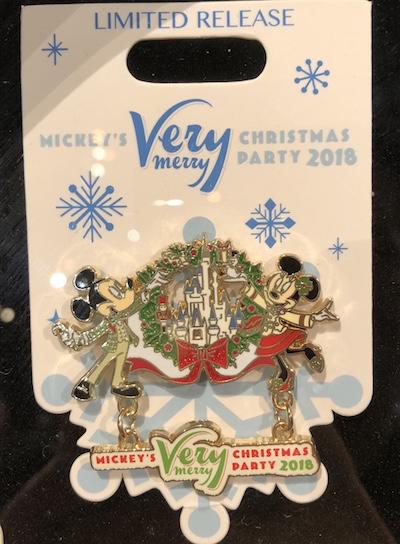 Mickey's Very Mery Christmas Prty 2018 Logo Pin