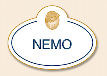 Nemo 15th Anniversary Nametag Pin