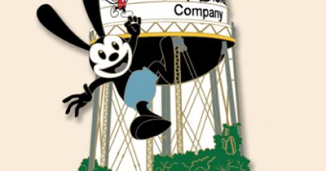 Oswald Water Tower 95 Years Disney Pin