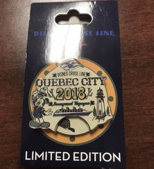 Quebec City 2018 Disney Cruise Line Pin