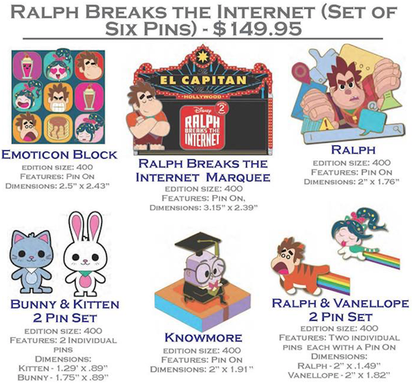 Ralph Breaks the Internet Pin Set