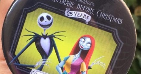 The Nightmare Before Christmas 25 Years Button
