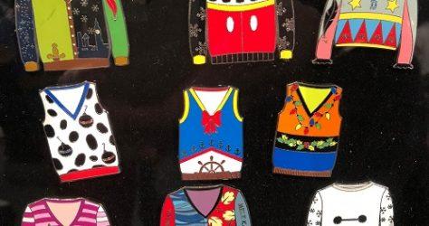 Ugly Sweater Disney Mystery Pin Set