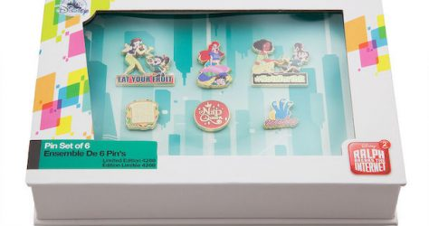Vanellope and Princesses from Ralph Breaks the Internet Pin Set