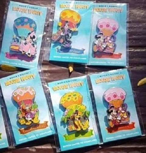 Worlds Biggest Mouse Party Pins - Disneyland Paris