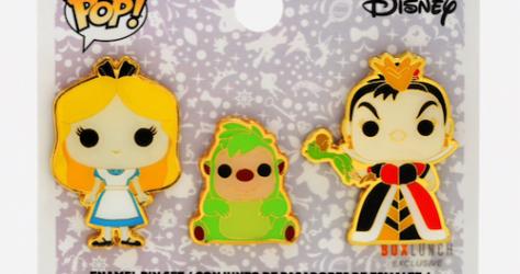 Alice, Queen of Hearts & Hedgehog Funko Pop! Disney BoxLunch Pin Set