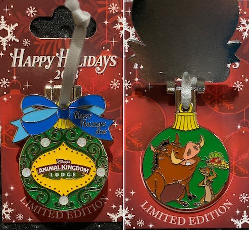 Animal Kingdom Lodge 2018 Holiday Pin