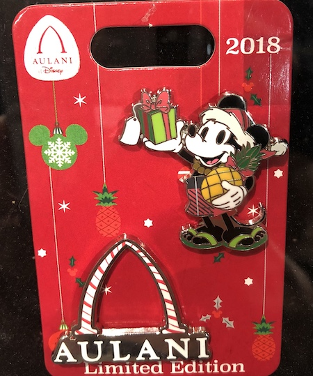 Aulani Holiday 2018 Disney Pin Set