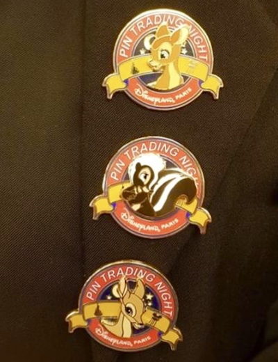 Bambi Disneyland Paris Pin Trading Night Pins