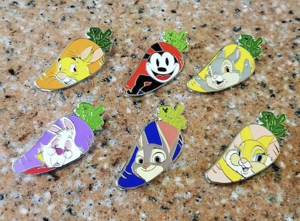 Carrots HKDL 2018 Hidden Mickey Pins