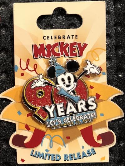 Celebrate Mickey 90 Years Pin