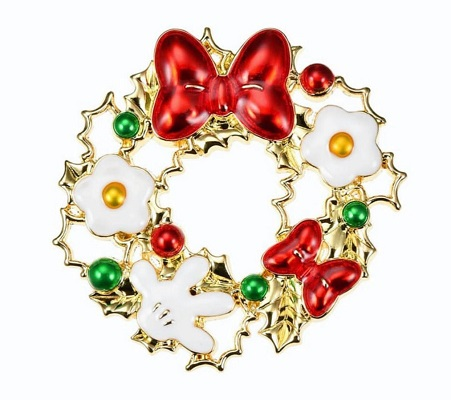 Christmas Wreath Disney Store Japan Pin