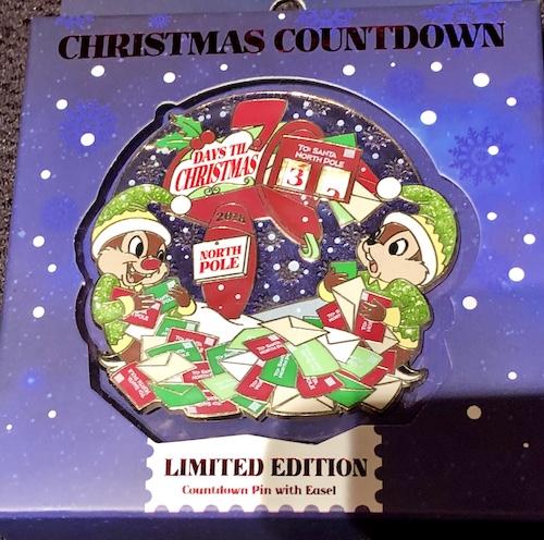 Days Til Christmas 2018 Mini Jumbo Pin