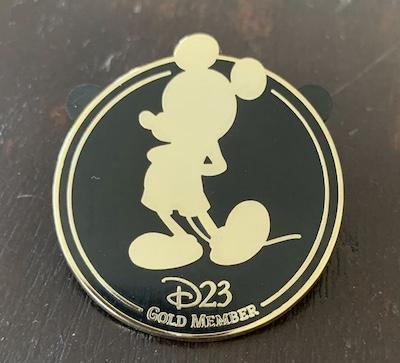 Disney D23 Gold Member Pin
