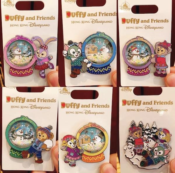 Duffy and Friends Snowman 2018 Pins