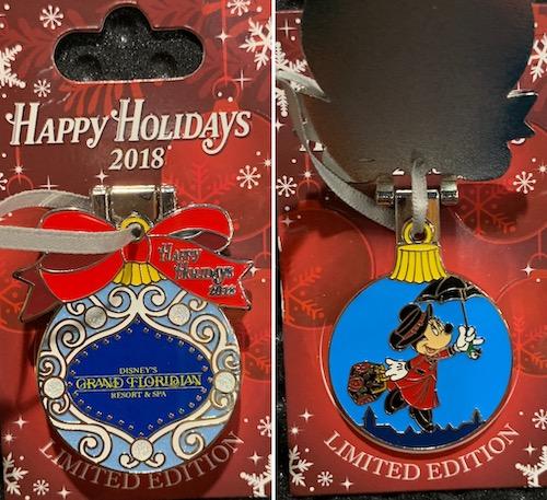 Grand Floridian Resort 2018 Holiday Pin