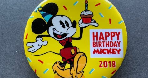 Happy Birthday Mickey 2018 Button