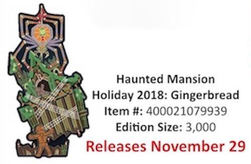 Haunted Mansion Holiday 2018 Gingerbread Pin