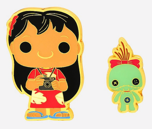 Lilo & Scrump Funko Pop! Disney BoxLunch Pin Set