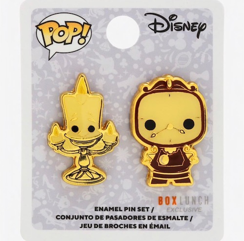Lumiere & Cogsworth Pop BoxLunch Disney Pin
