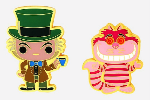 Mad Hatter & Cheshire Cat Funko Pop! Disney BoxLunch Pin Set