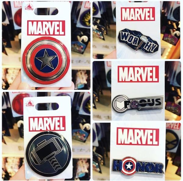 Marvel Pins - Hong Kong Disneyland