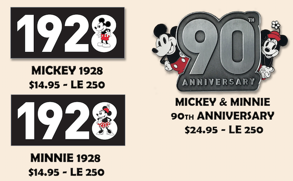Mickey 90th Employee Center Disney Pins