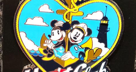 Mickey & Minnie Heart Yacht Club Resort Pin