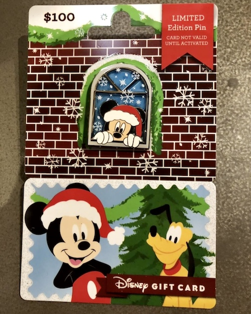 Mickey Mouse 2018 Disney Gift Card Pin