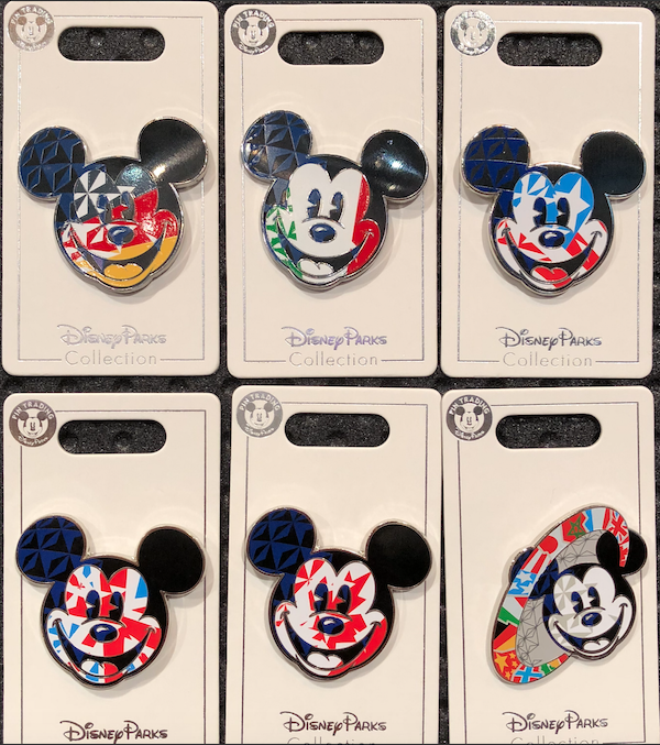 Mickey Mouse Epcot World Showcase Country Pins 1