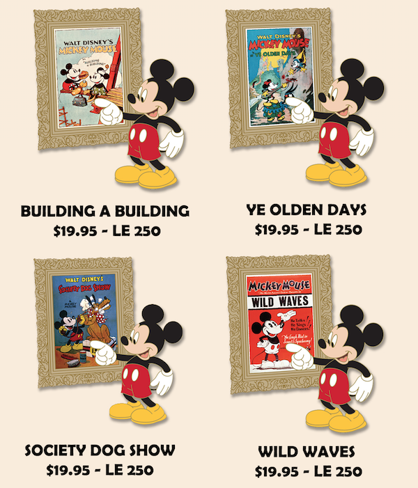 Mickey Poster Pins - Employee Center
