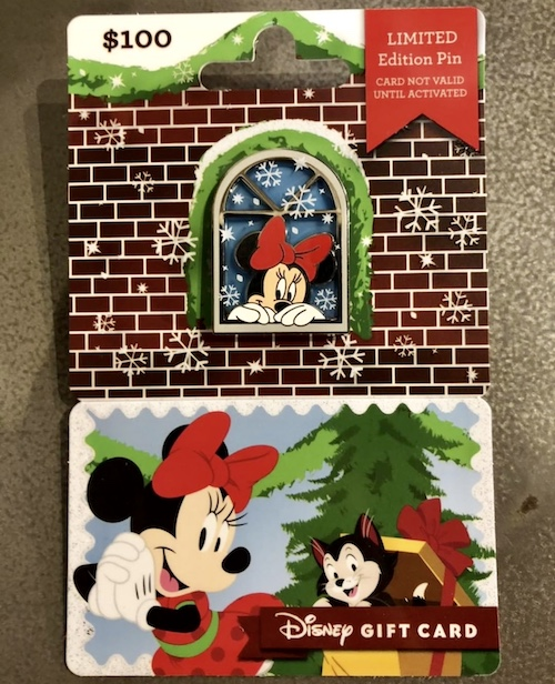 Minnie Mouse 2018 Disney Gift Card Pin