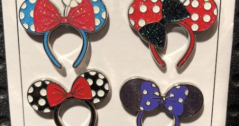 Minnie Mouse Ear Headband Pin Set
