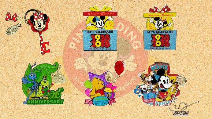 November Limited Editions Pins at HKDL